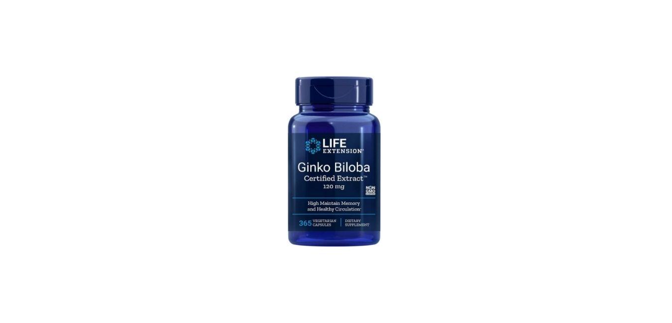 Life Extension Ginkgo Biloba Certified Extract Supplement